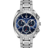 Bulova Mens CURV Stainless Chronograph Watch - J377558