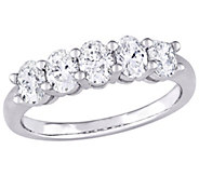 Affinity 14K 1.00 cttw Oval-cut Diamond 5-StoneBand Ring - J381358