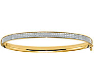 Italian Gold Glimmer Infused Hinged Bangle, 4.4g - J381558