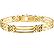 Italian Gold 8-1/2 Open Rectangle Link Bracelet 14K, 15.3g - J382058