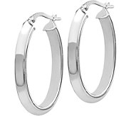 Italian Gold 1-1/4 Polished Hoop Earrings 14K,3.2g - J382258
