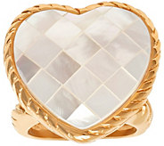 Steel by Design Stainless Steel Mother-of-PearlHeart Ring - J383758