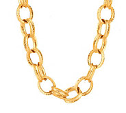 Kenneth Jay Lanes Hammered Oval Rings 24 Necklace - J270459