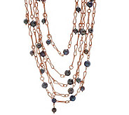 Honora Cultured Pearl 18 Bronze Multi-strand Necklace - J271759