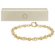 Judith Ripka 14K Clad 4.85ct 100-Facet Small Rolling Bracelet - J274059