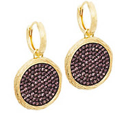 As Is Veronese 18K Clad Cognac Crystal Round Drop Earrings - J284259