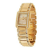 Judith Ripka Diamonique Stainless Steel Regent Watch - J286259