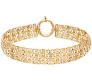 14K Gold Diamond Cut Interlocking Link Bracelet, 10.0g - J295359