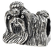 Prerogatives Sterling Glancing Sideways Shih Tzu Bead - J299559