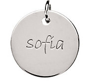 Posh Mommy Sterling Large Disc Pendant - J300059