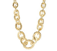 Arte dOro 18 Diamond Cut Oval Link Necklace,18K, 46.4g - J300559