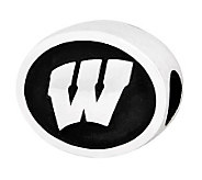 Sterling Silver University of Wisconsin Bead - J300759