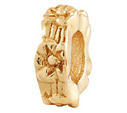 Prerogatives Gold-Plated Sterling Floral SpacerBead - J302659