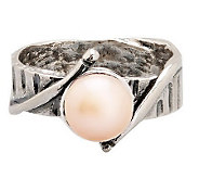 Or Paz Sterling 7.0mm Pink Cultured FreshwaterPearl Ring - J303859