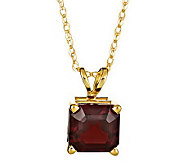 Asscher-Cut Gemstone Pendant w/ 18 Chain, 14KGold - J304659