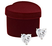 Diamonique 1.00 cttw Stud Earrings, Sterling, w/ Gift Box - J317459