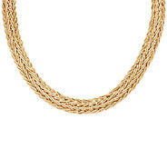 14K Gold 18 Bold Polished Mirror Wheat Necklace, 33.5g - J319659