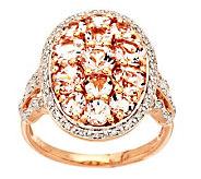As Is 2.00 ct tw Morganite & 1/5 ct tw Diamond Ring, 14K Gold - J321659