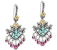 Barbara Bixby Sterling & 18K 5.15 cttw Gemstone Arrow Head Earrings - J322559