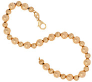 EternaGold 8 Polished & Satin Bead Bracelet 14K Gold, 3.4g - J324059