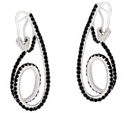 Judith Ripka Sterling 2.40 cttw Black Spinel Swirl Earrings - J325859