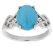 As Is Sleeping Beauty Turquoise Sterling Ring - J325959