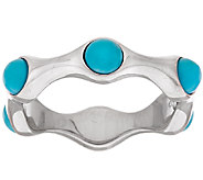 As Is Sleeping Beauty Turquoise Sterling Silver Band Ring - J326759