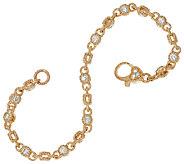 Judith Ripka 14K 2.35 cttw Diamond 6-3/4 Rolling Bracelet - J327159