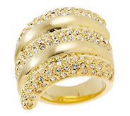 As Is Melania Bold Pave Style Layer Ring - J327759