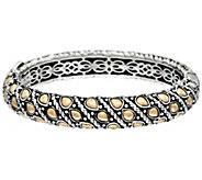 JAI Sterling 56.0g & 14K Gold Sukhothai Hinged Bangle - J329259