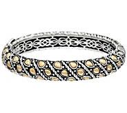 JAI Sterling 56.0g & 14K Gold Sukhothai Hinged Bangle - J329259