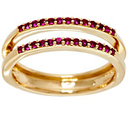 Ruby Ring Guard, 14K Gold, .20 cttw, by Affinity - J329459