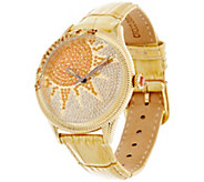 Judith Ripka Stainless Steel & Diamonique Tan Sun Watch - J329959