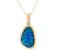 Australian Opal Doublet Enhancer on 18 Chain 14K Gold - J331259