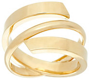 Dieci Polished Wrap Ring 10K Gold - J332259