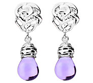 Kalos by Hagit Sterling Lavender Glass Bead Drop Earrings - J338059