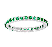 Simply Stacks Sterling Created Emerald EternityRing - J338959