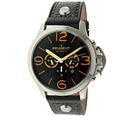 Peugeot Mens Automatic Leather Strap Watch - J341159