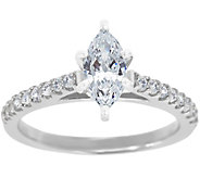 Diamond Pave Ring, 14K White Gold 3/4 cttw, byAffinity - J341459