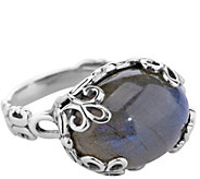 Carolyn Pollack Sterling Labradorite Bold EastWest Ring - J342859