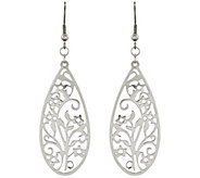 Steel by Design Filigree Teardrop Wire Earrings - J343159