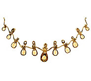 Carolyn Pollack 10.50 ct Champagne Citrine & Brass Enhancer - J343259