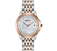 Bulova Ladies Diamond Accent Two-Tone Watch - J343959