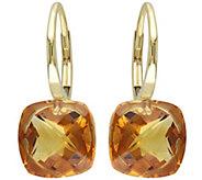 8.00 cttw Madeira Citrine Earrings, 14K Gold - J344059