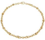 Judith Ripka 20 Verona Circle Link 14K Clad Necklace 32.4g - J344159