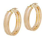 EternaGold Textured Cigar Band Hoop Earrings, 14K Gold - J344659