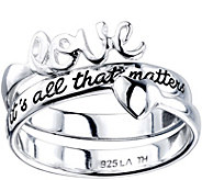 Extraordinary Life Sterling Love Wrap Ring - J345359