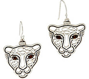 JAI Sterling Silver Leopard Drop Earrings - J347359