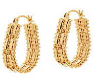 Imperial Gold Mirror Bar 1 Hoop Earrings 14K Gold - J348559