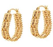 Imperial Gold Mirror Bar 1 Hoop Earrings 14K Gold - J348559